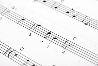 Macro of music sheet of a classical piece | by Horia Varlan