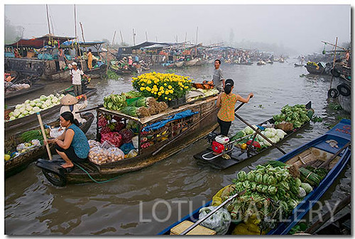 Floating market- VietNam