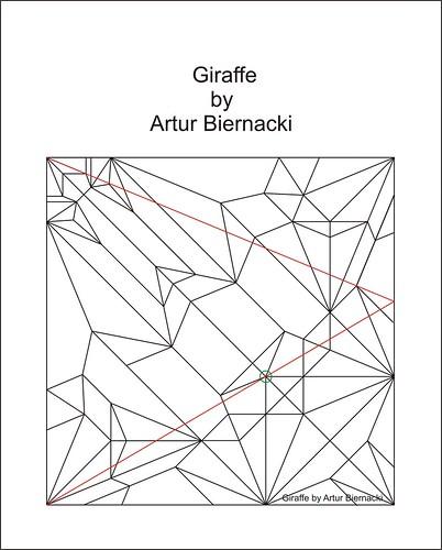 Giraffe  by Artur Biernacki - crease pattern   by Arturori