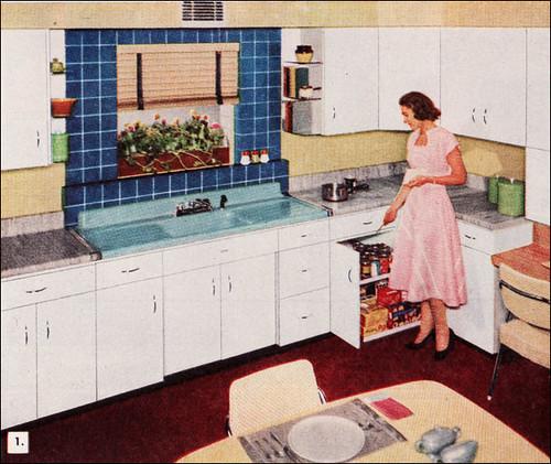 1950s Kitchen American Standard Sink Source 1953