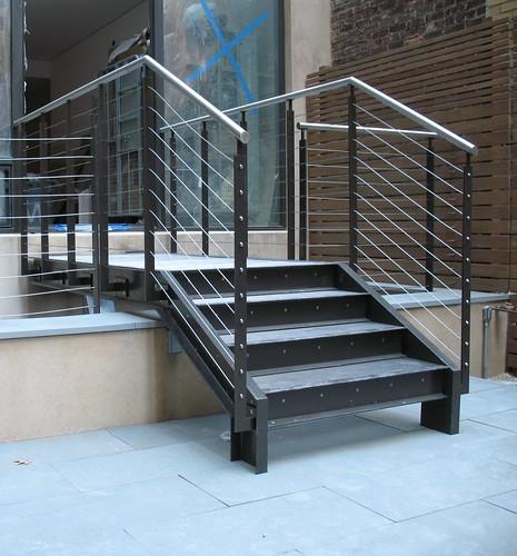 Caliper Studio Genetic Stair: Custom Steel Bridge Provides