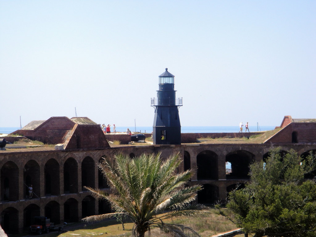 Lighthouse on the roof of Fort Jefferson