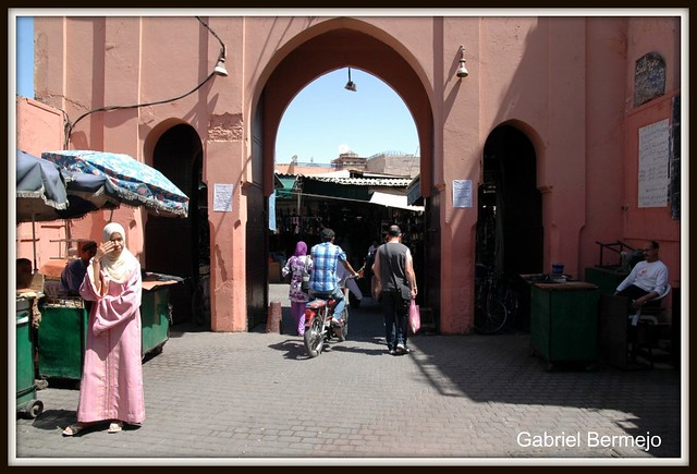Arco en la Medina de Marrakech