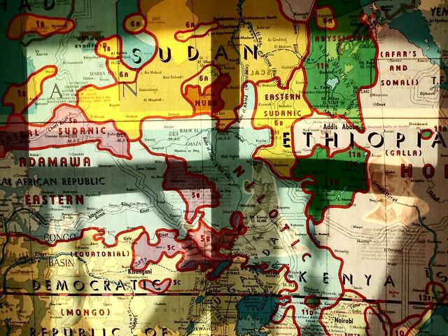 backlit map