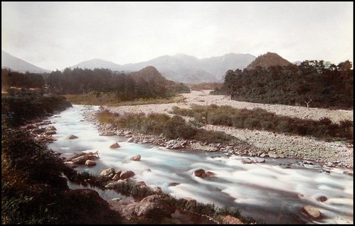 THE DAIYA RIVER NEAR KYOTO -- A Lovely Pastoral Scene in Old Japan (A) | by Okinawa Soba (Rob)