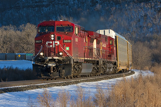 CP 9600 on train CP 199; Wacouta, MN   by Ottergoose