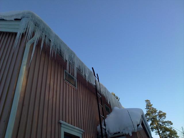 Estalactitas de hielo
