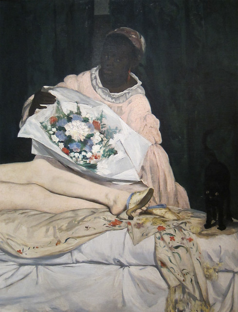 Manet - Olympia, detail servant