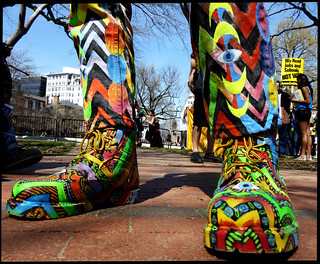 Pat Meanny's anti-war shoes | by scottmontreal
