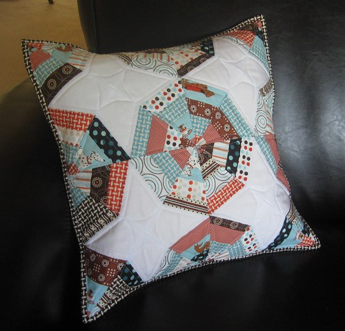 String Pieced Pillow | by teaginny
