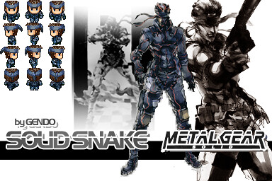 MGS Solid Snake RPG Maker VX | A Metal Gear Solid (or MGS) C