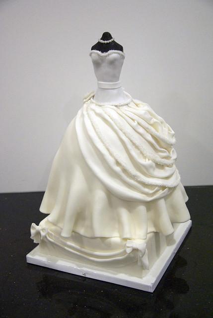 bridal shower dress cake