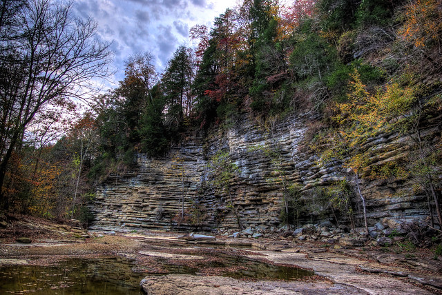 Cliffs, Fort Payne Formation, Roaring River, Overton Co, TN