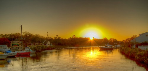 sunset water virginia canal chesapeake hdr albemarle