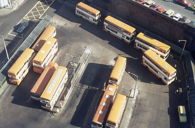 Victoria Bus Station, Salford from above