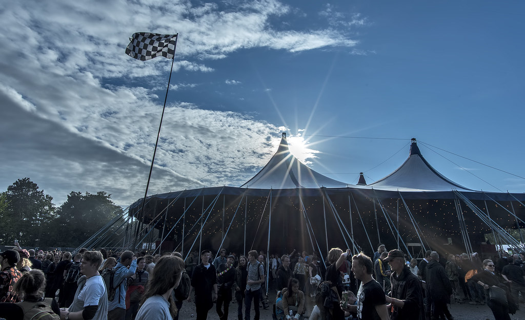 Sun comes out at Roskilde Festival