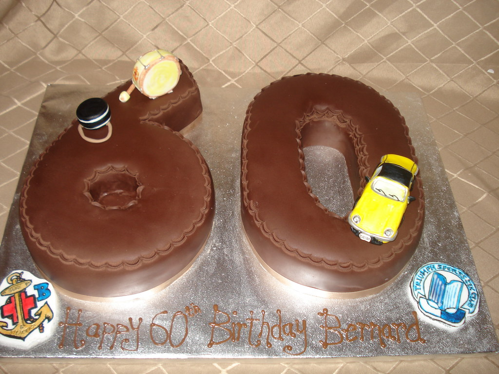 Outstanding 60Th Birthday Cake Rich Chocolate Cake Covered With Choco Flickr Funny Birthday Cards Online Fluifree Goldxyz