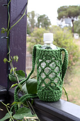 Crochet water bottle carrier | by rettgrayson