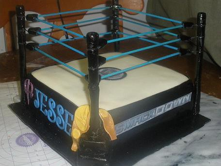 WWE Smackdown Wrestling Ring Cake | This was for a 8 year ol