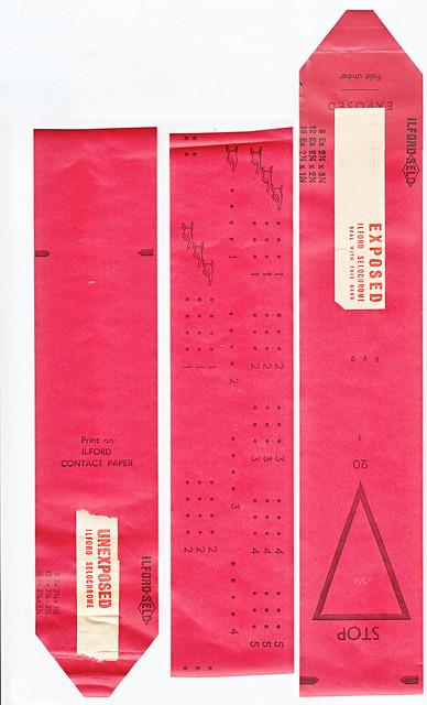 120 Film Backing Paper -  Ilford Selochrome