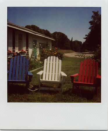 Terrific Red White And Blue Chairs Wellfleet Cape Cod This Image Short Links Chair Design For Home Short Linksinfo