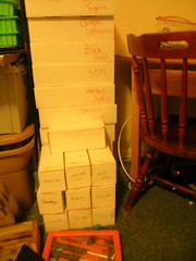 cured and almost cured soap boxes