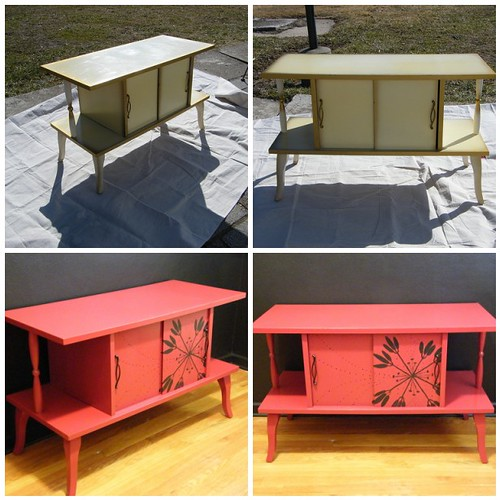 Project 6: 1970's Record Storage Furniture | Took the yellow
