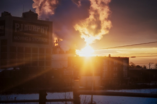 winter cloud snow industry train sunrise geotagged dawn connecticut steam warehouse amtrak bridgeport mudpig stevekelley pjmurphymovingandstorage