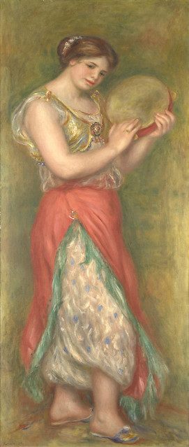 Auguste Renoir: Dancing girl with tambourine (1909)