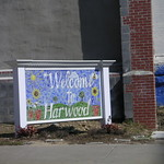 Harwood Welcome Sign