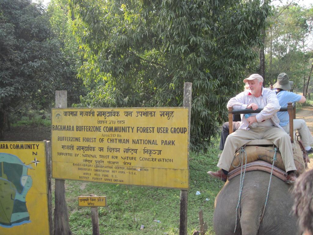 Elephant safari in Baghmara Community Forest, Chitwan_IMG_0398