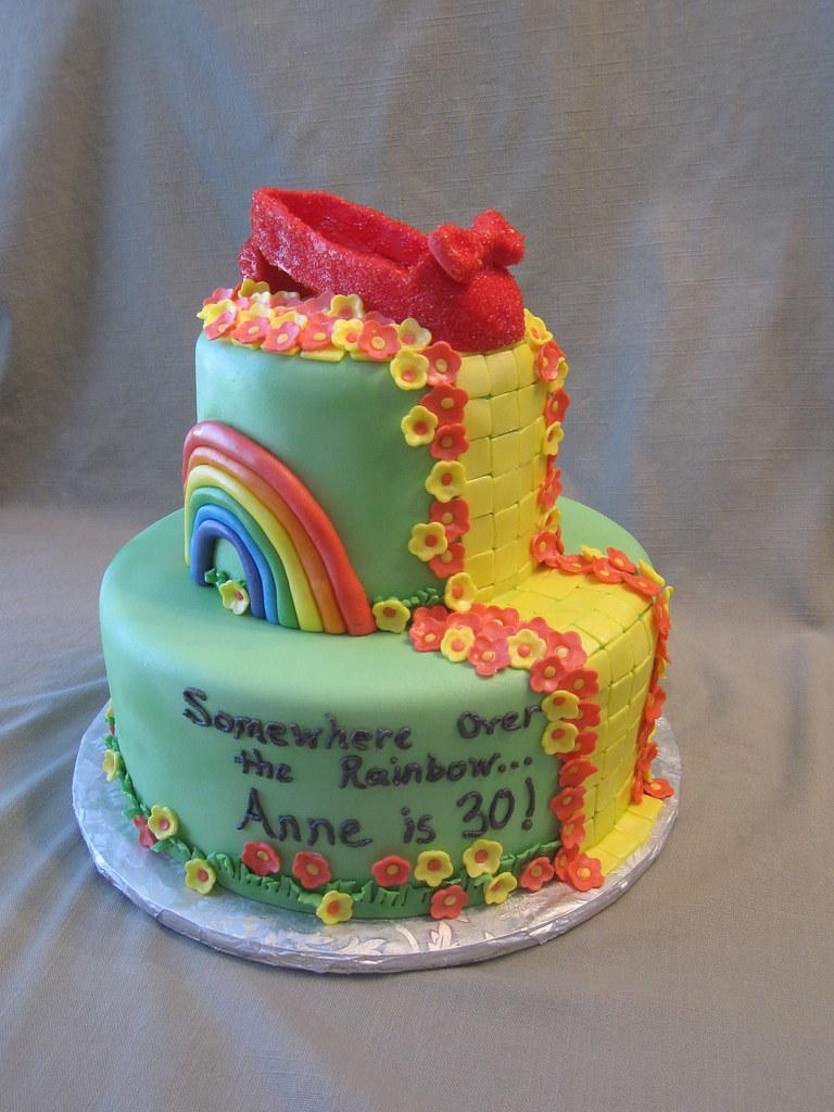 Peachy Wizard Of Oz Birthday Cake This 2 Tier Wizard Of Oz Inspir Flickr Funny Birthday Cards Online Bapapcheapnameinfo