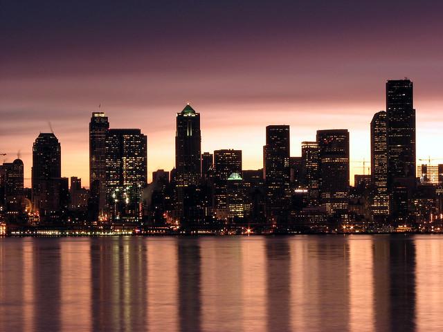 Seattle Sunrise Reflection