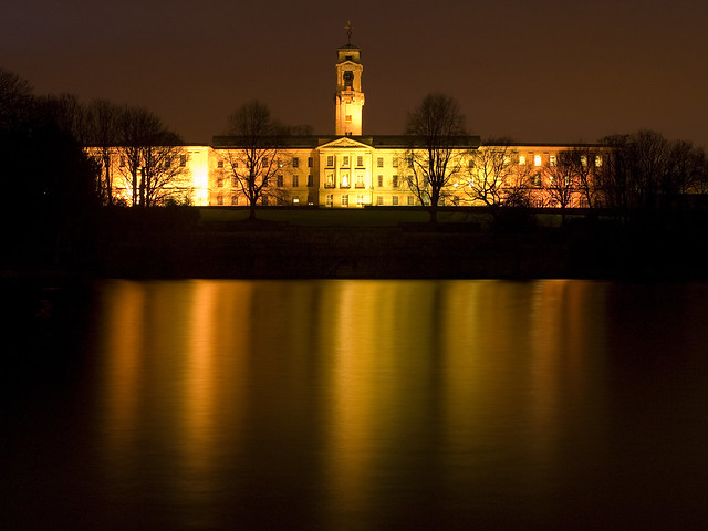 Golden Reflections of the Trent Building at the University of Nottingham