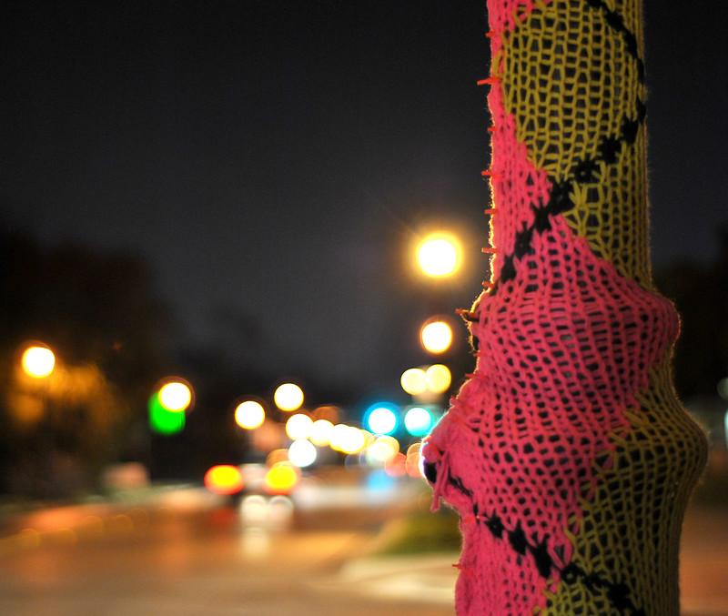 Knitta Please Lamp Post