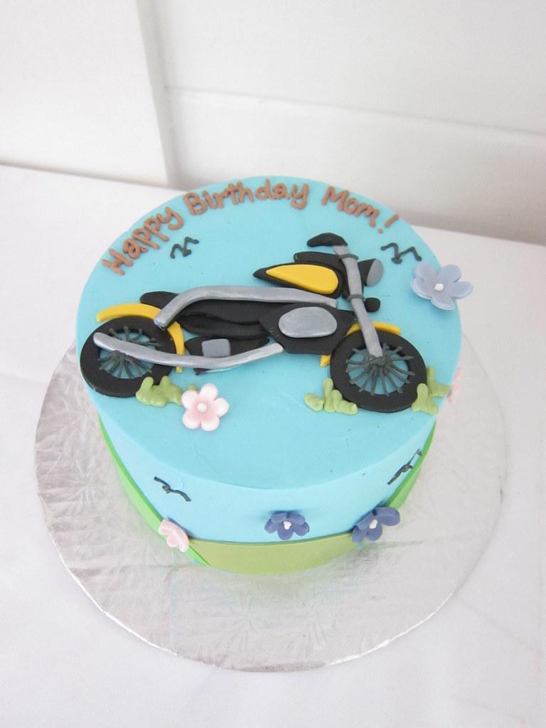 Awe Inspiring Motorcycle Birthday Cake Polkadots Olga Flickr Funny Birthday Cards Online Alyptdamsfinfo