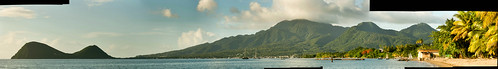 panorama mountains clouds caribbean dominica caribbeansea cabrits