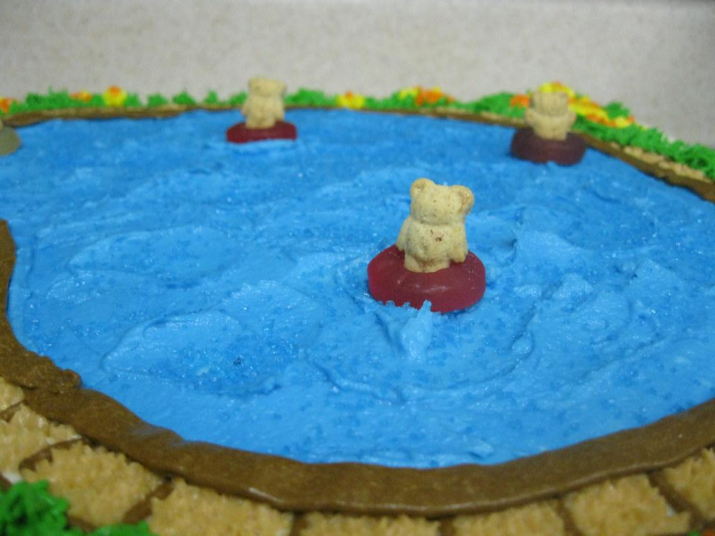 Enjoyable Swimming Pool Birthday Cake 1 Swimming Pool Birthday Party Flickr Personalised Birthday Cards Vishlily Jamesorg