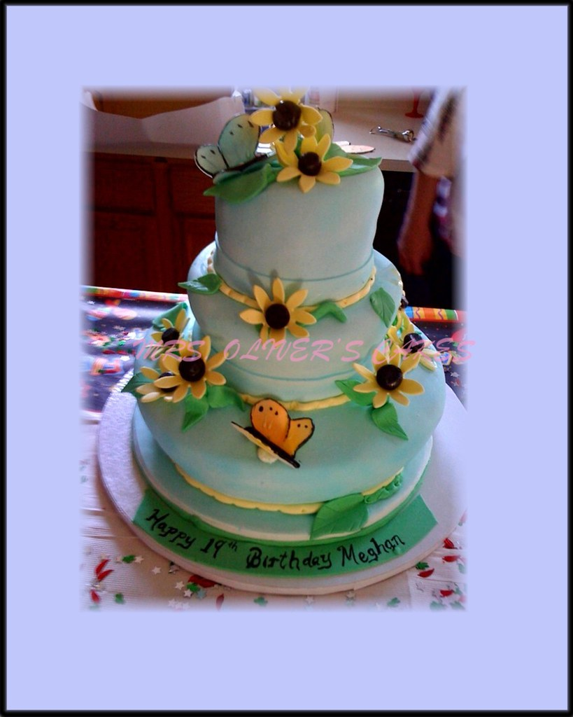 Terrific Butterfly Cake Butterfly Themed Birthday Cake Mrs Olivers Funny Birthday Cards Online Overcheapnameinfo