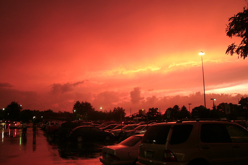 sunset red storm
