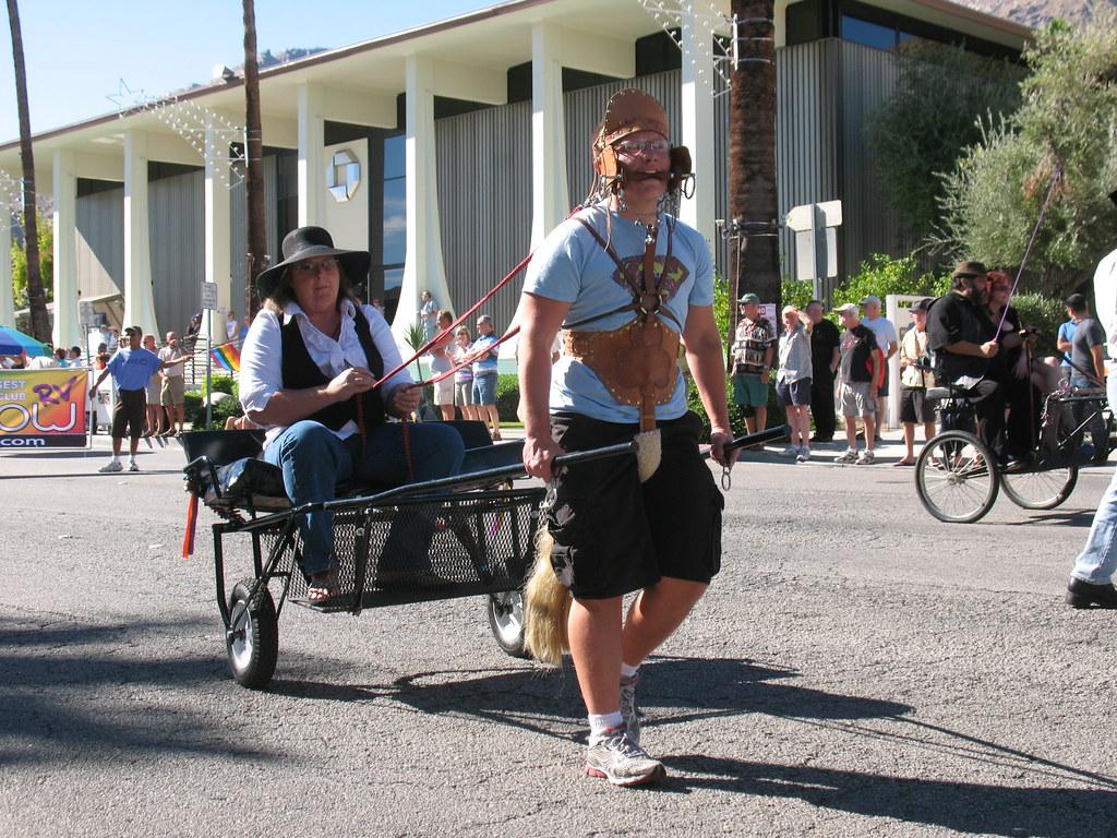 Gay pride parade, palm springs, california, united states stock photo