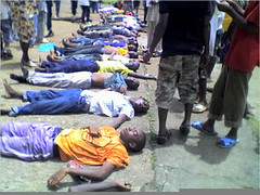 Guinea's Line-up of Dead from September 28 Massacre