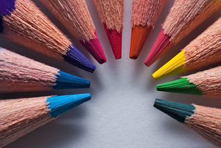 Macro of sharpened colored pencils aranged in a circle | by Horia Varlan