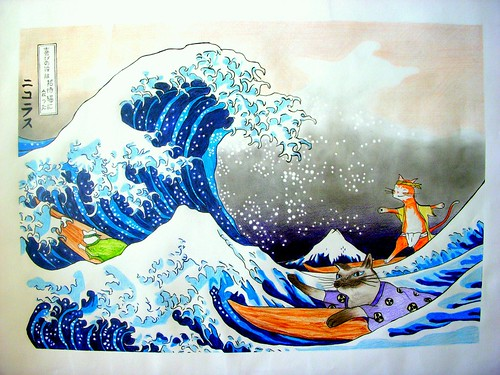 Appropriation: The Great Wave Off Kanagawa | by Zhutta