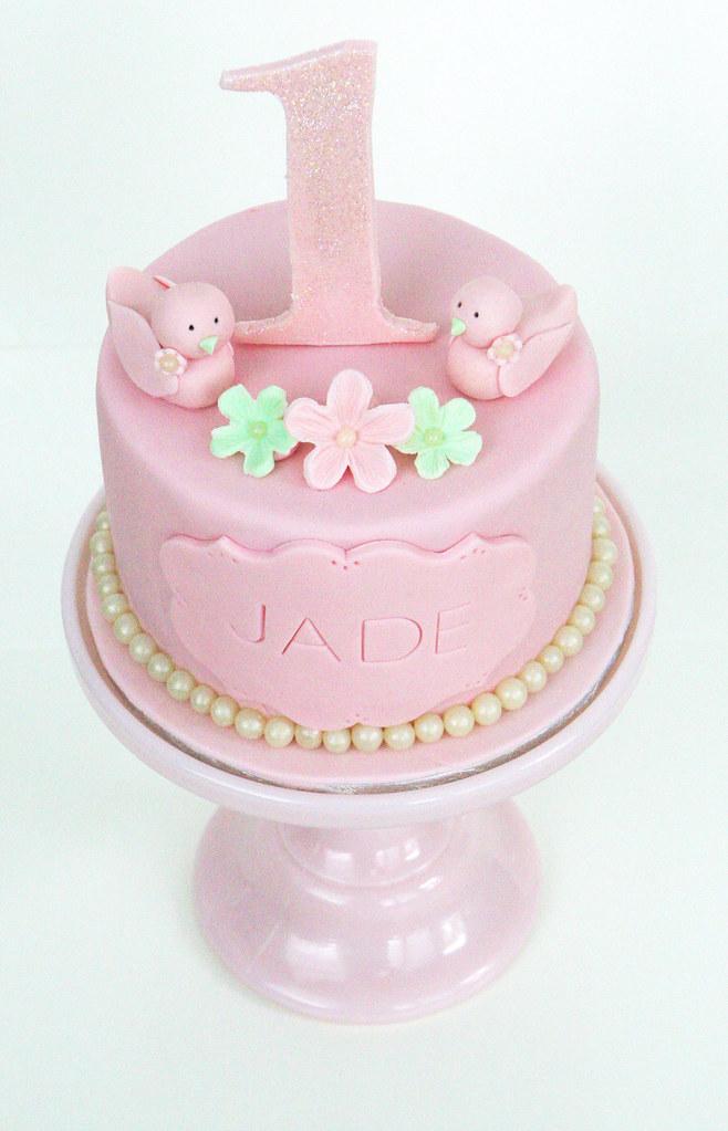 Cool Little Girls 1St Birthday Cake A Slightly Different Versi Flickr Funny Birthday Cards Online Necthendildamsfinfo