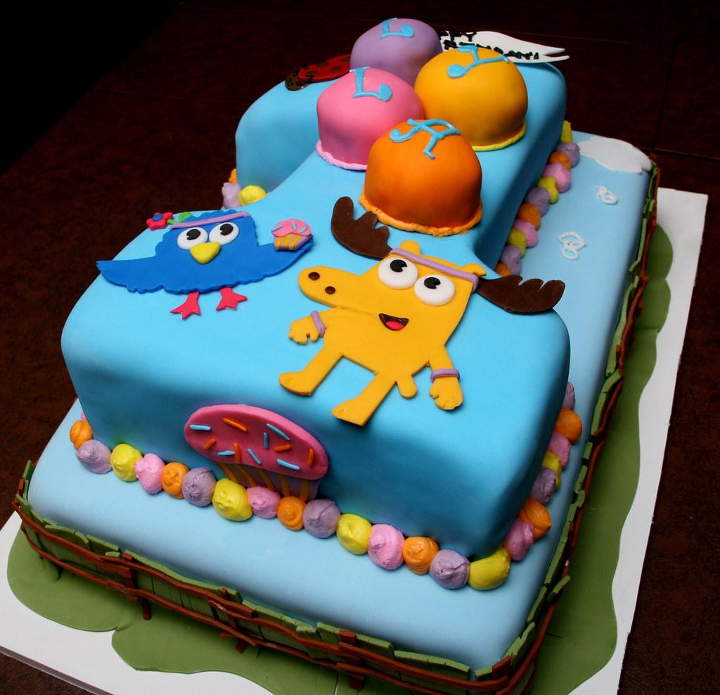 Moose & Zee First Birthday Cake - Lyla #2