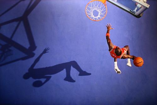 Michael Jordan, Blue Dunk, Lisle, IL, 1987   by cliff1066™