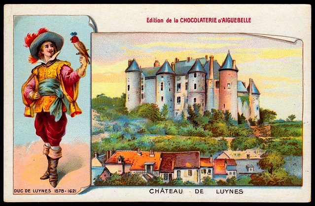 French Tradecard - Chateau De Luynes