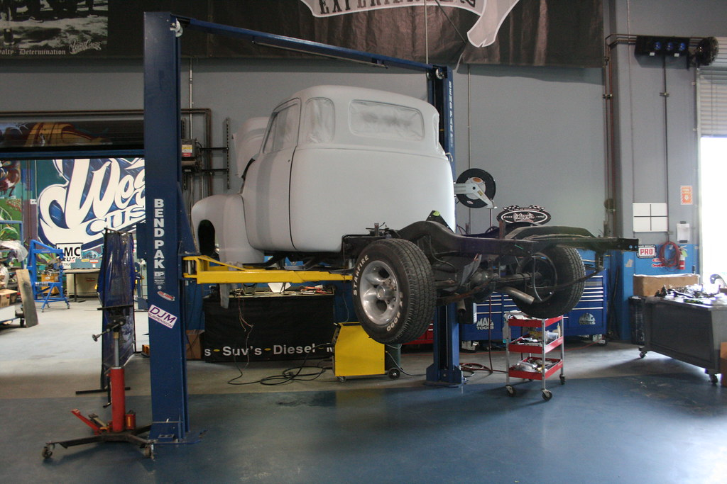 Olde Timey Truck on a BendPak 2-Post Car Lift | This is a Be… | Flickr