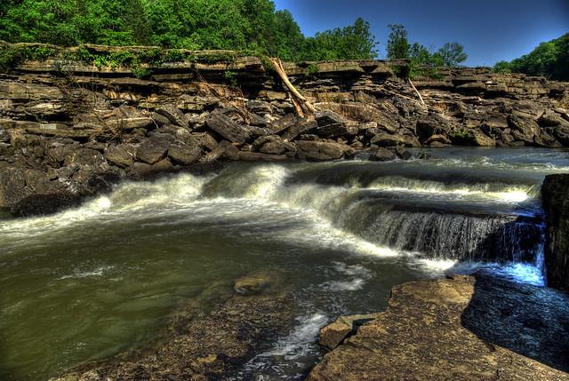 Small waterfall, Rock Island State Park, Warren Co, TN